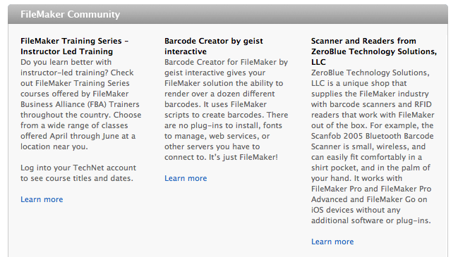 zeroblue featured in filemaker newsletter